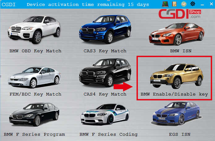 How to Use CGDI BMW to DisableEnable BMW F-series Keys (1)