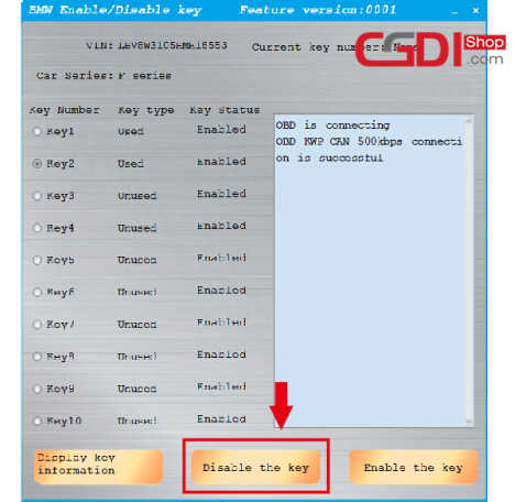 How to Use CGDI BMW to DisableEnable BMW F-series Keys (8)