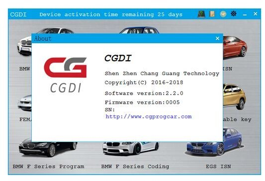 CGDI BMW Pro BMW F series coding & EGS ISN for free