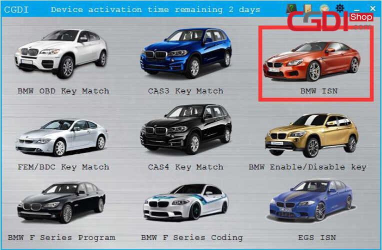 CGDI BMW Pro to Program CAS3 MSV80 ECU (3)
