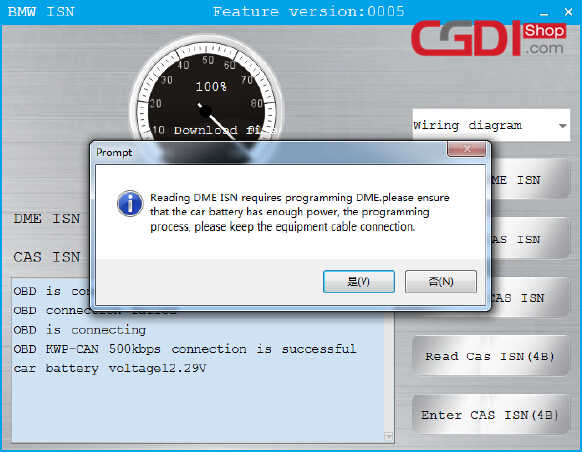 BMW CAS3 MSV80 ECU Programming by CGDI BMW Pro after replacement