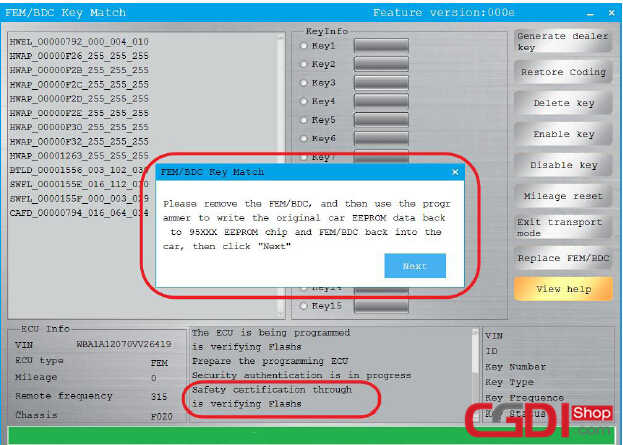 How to Use CGDI BMW to Adding & All Keys Lost for BMW FEMBDC (12)
