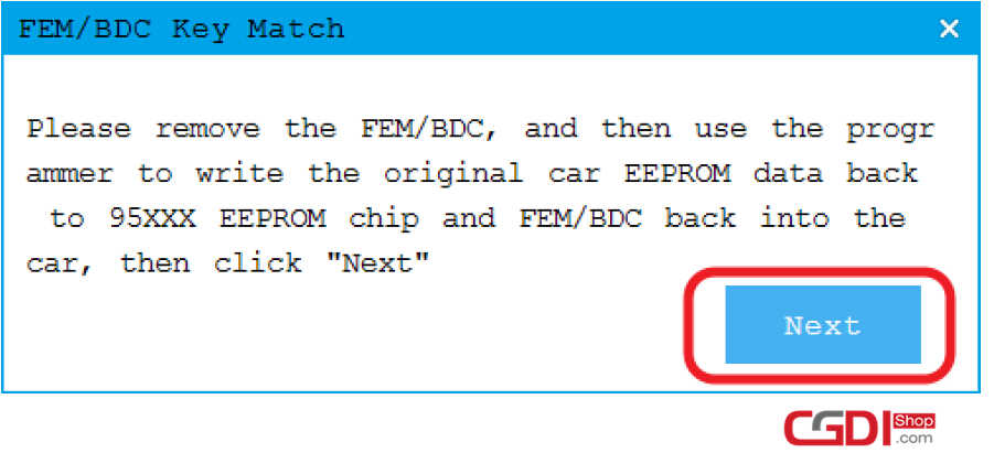 How to Use CGDI BMW to Adding & All Keys Lost for BMW FEMBDC (13)
