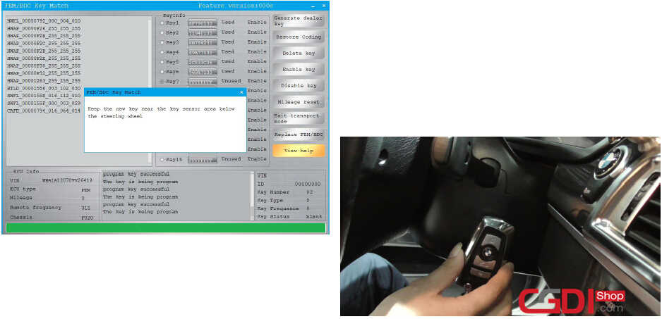 How to Use CGDI BMW to Adding & All Keys Lost for BMW FEMBDC (31)