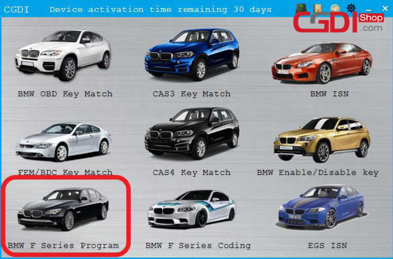 How to Program BMW F-Series by CGDI BMW (1)