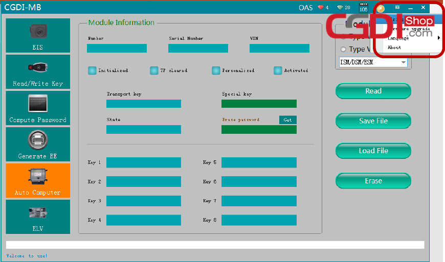 CGDI MB Clean ISM DSM ESM for Benz W164 (4)
