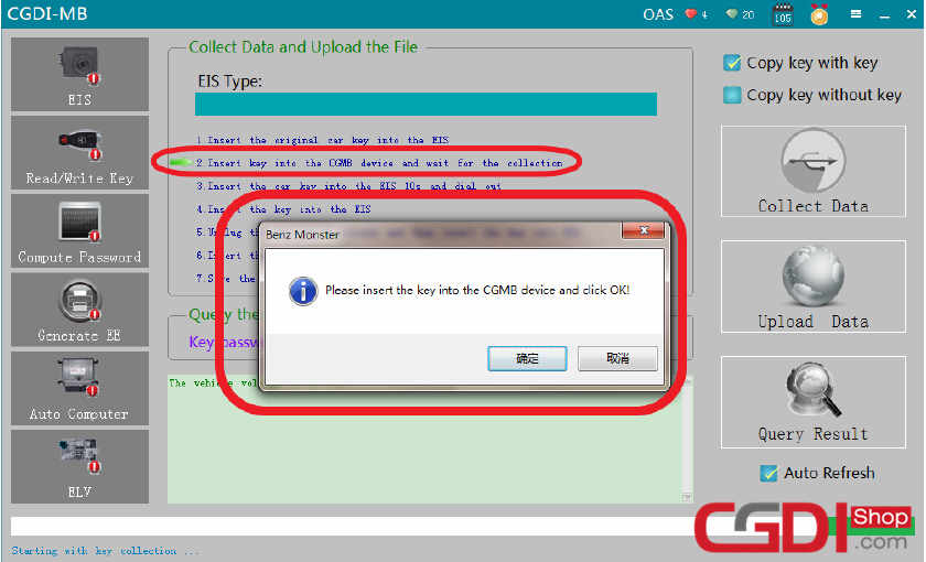 How to Use CGDI MB Add New Key for Benz W211 via OBD (6)