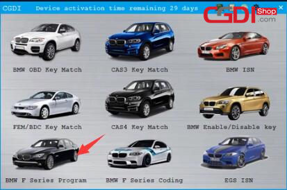 CGDI BMW Program BMW F-serie BDC ECU Programming (2)