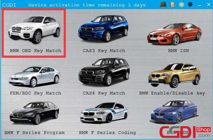 How to Use CGDI BMW Add New Keys for BMW CAS3 System (1)