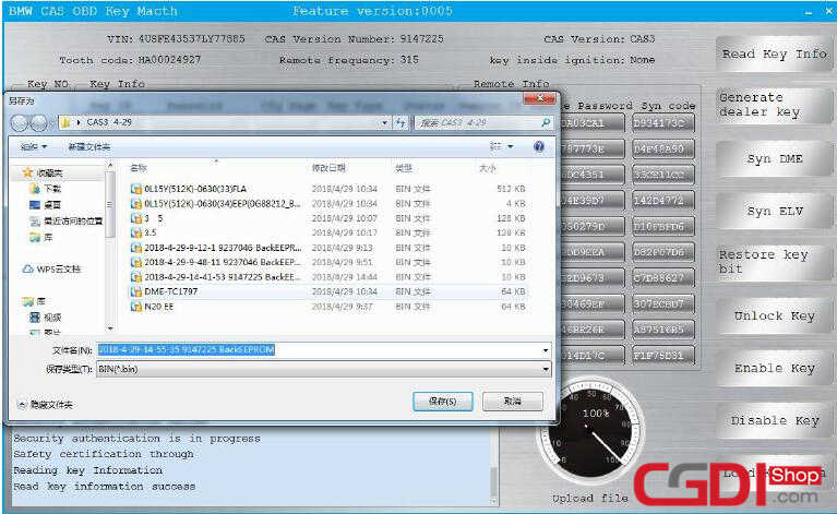 How to Use CGDI BMW Add New Keys for BMW CAS3 System (4)