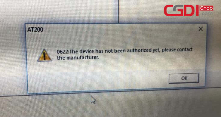 AT200 BMW V1.3 Update Error E139 & 0622-3